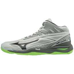 Mizuno Wave Mirage 2.1 (19) Mid -indoor shoe, Grey/Black/Green