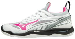 Mizuno Wave Mirage 2.1 White Pink -indoor shoe