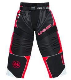 Unihoc Optima Goalie Pants (Black/Neon red)