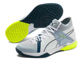 Puma Explode XT Hybrid 1 Indoor Teamsport Shoes, White-Grey