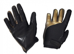 Fat Pipe(19) Goalie Gloves Black/Gold (Silicone)
