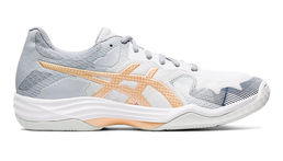Asics Gel-Tactic (19) Womens indoor shoe, white/champagne