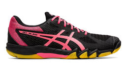 Asics Gel-Blade 7 (19) Womens indoor shoe, black/pink camo