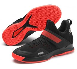 Puma Rise XT Netfit 2  Indoor Teamsport Shoes, Black-Silver-Red