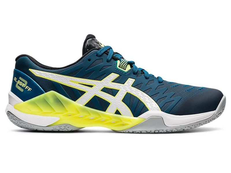 Asics Blast FF 2 (21) Men's Indoor shoes (Deep Sea Teal/White)