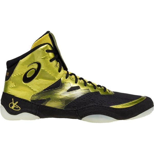 Asics JB Elite IV wrestling shoes, rich gold/black