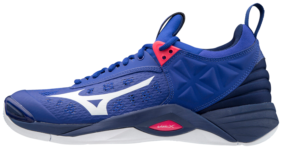 mizuno wave momentum red and blue